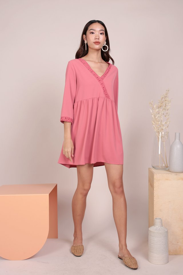 Chantel Crochet Dress (Rose)