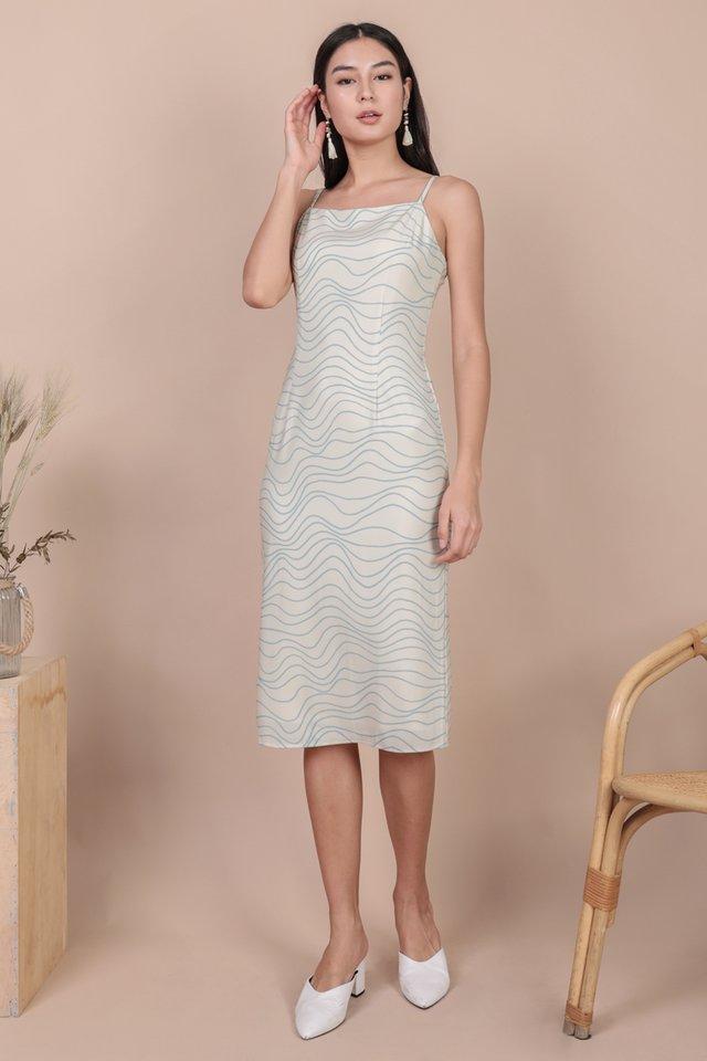 Swift Midi Dress (Waves)