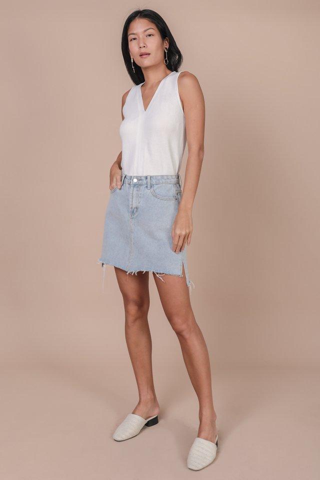 Sidra Knit Top (White)