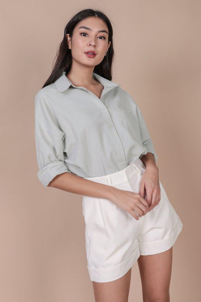 Sanford Boyfriend Shirt (Light Grey)