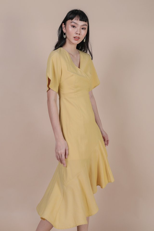 Santino Sleeve Dress (Lemon)