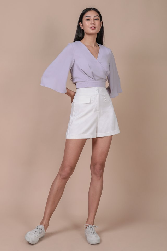 Anders Button Shorts (White)