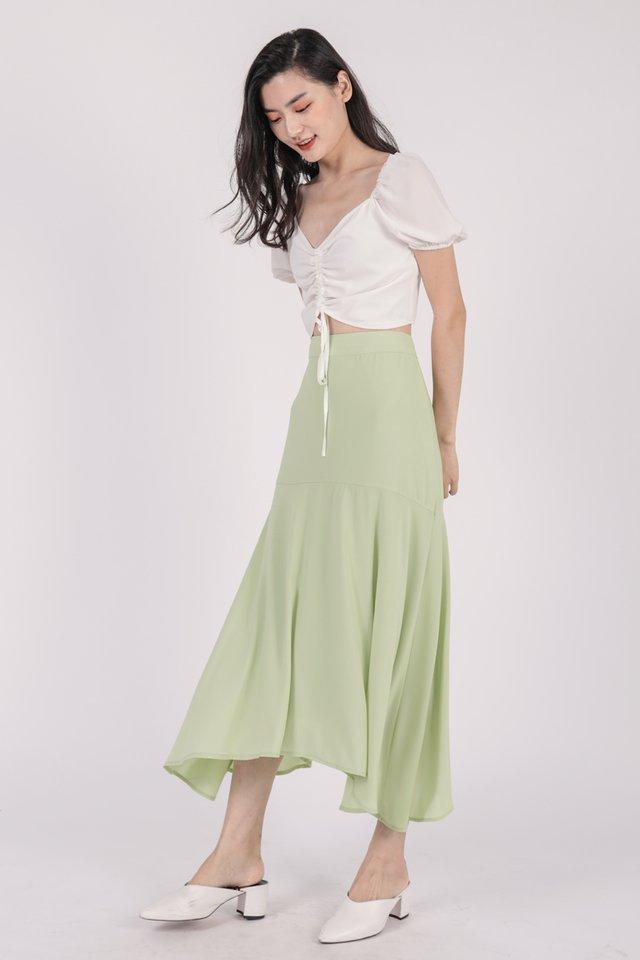 Fiori Midi Skirt (Spring Green)
