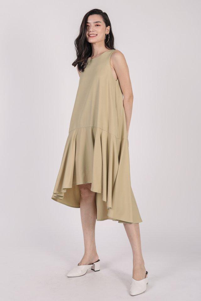 Iva Fishtail Dress (Ecru)