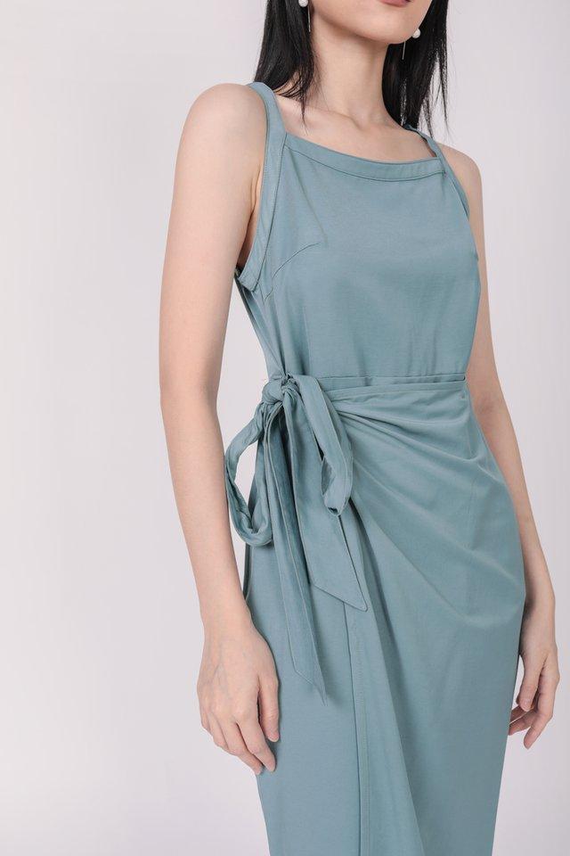Finley Wrap Dress (Teal Blue)