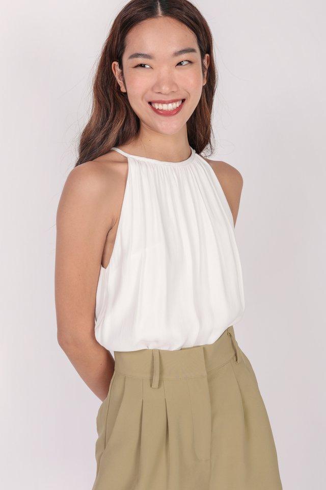 Hira Halter Top (White)
