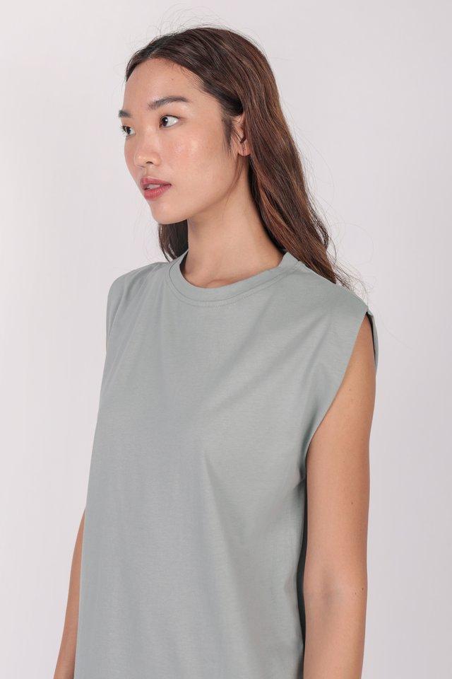 Randall Midi Dress (Slate Grey)