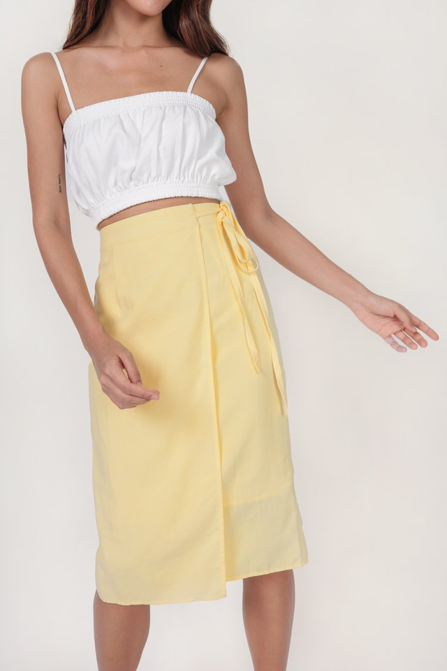 Brighton Midi Skirt (Butter)