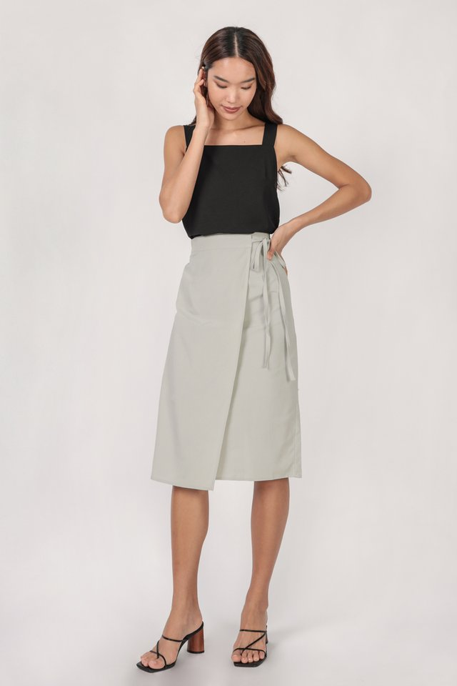 Brighton Midi Skirt (Grey)
