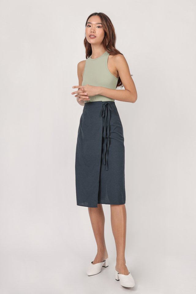 Brighton Midi Skirt (Navy)