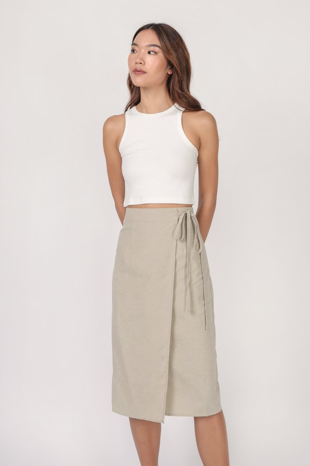 Brighton Midi Skirt (Oat)