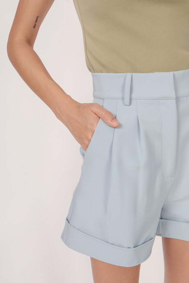 Brook Tailored Shorts (Pastel Blue)
