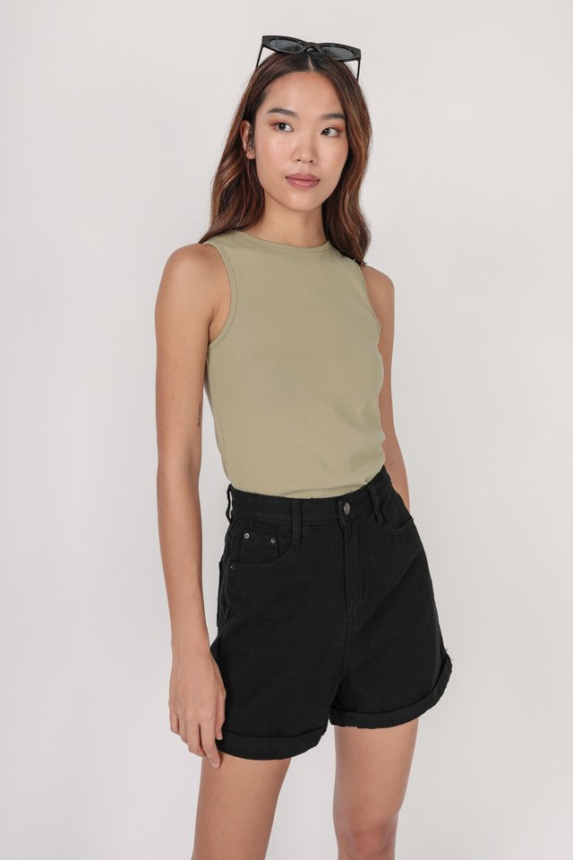 Ezra Basic Top (Ash Green)