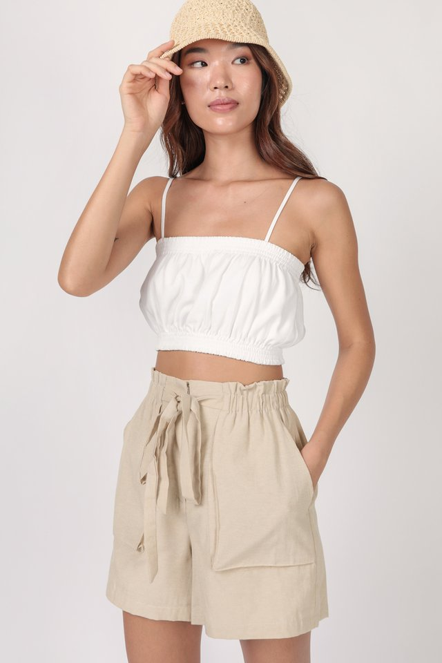 Jed Drawstring Shorts (Nude)