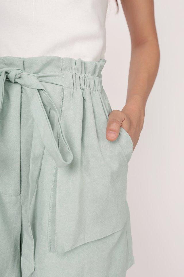 Jed Drawstring Shorts (Seafoam)