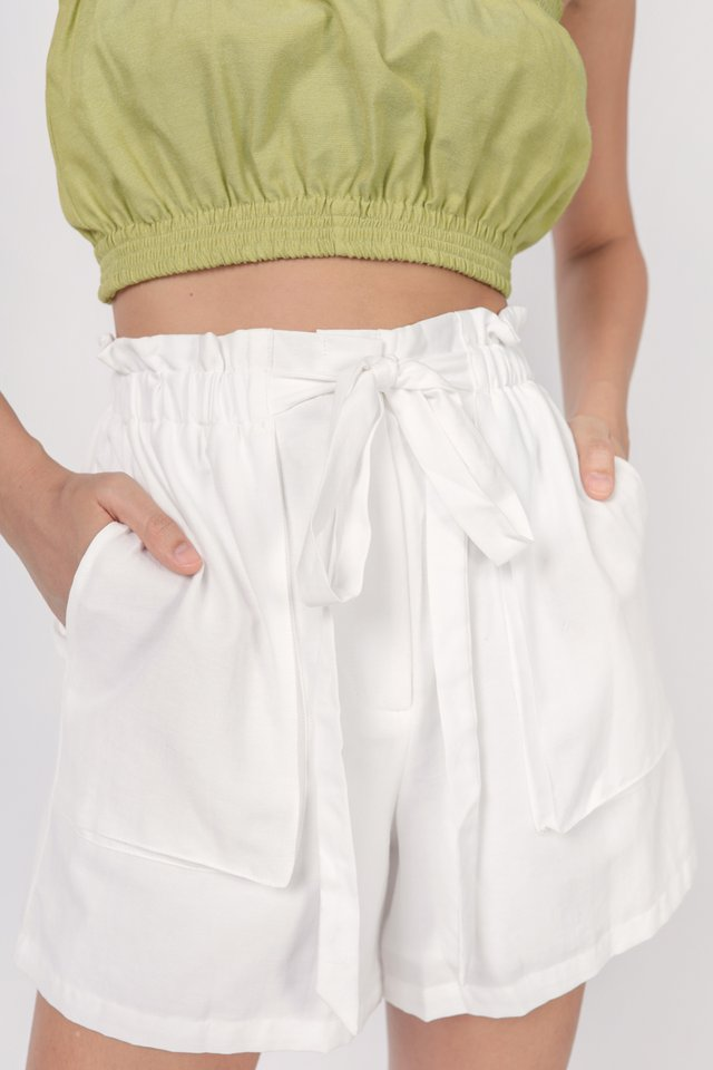 Jed Drawstring Shorts (White)