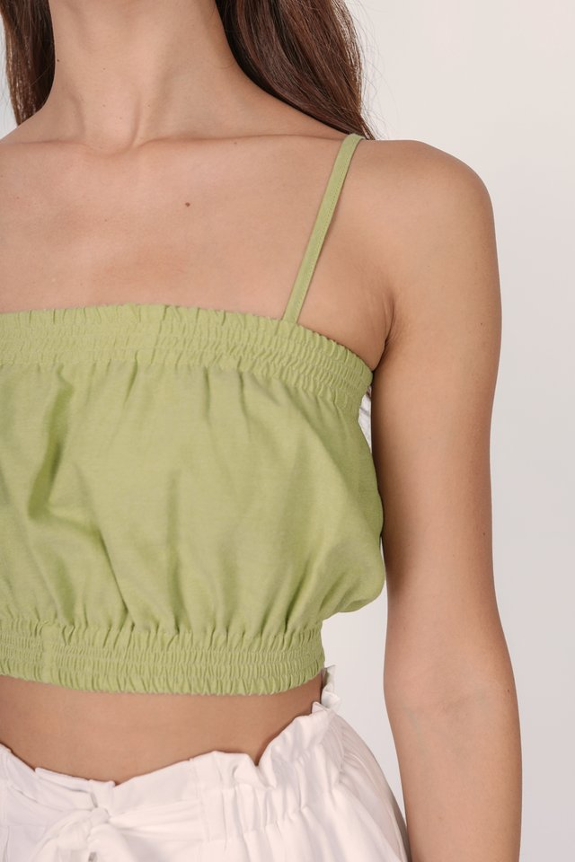 Mallory Cropped Top (Kiwi)